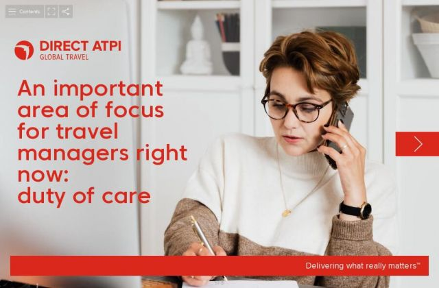 Duty of care: an important area of focus for travel managers right now